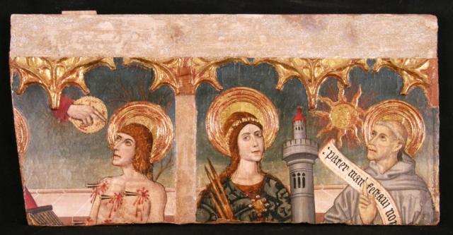 Fragmento de banco de retablo