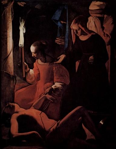 Georges de La Tour. San Sebastián atendido por Santa Irene