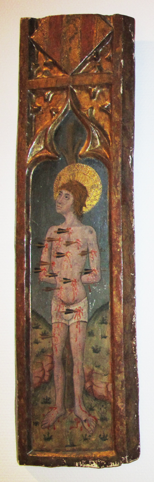 San Sebastián. Fragmento de Polsera de un retablo de Barbastro