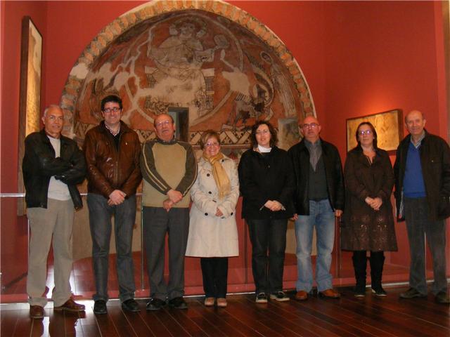 Junta Directiva de la Asociación de Amigos del Museo Diocesano Barbastro-Monzón. Foto A. Huguet