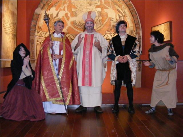 Visitas teatralizadas al Museo Diocesanod e Barbastro-Monzón. A. Huguet