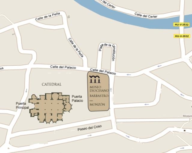 Plano acceso Catedral y Museo Diocesano
