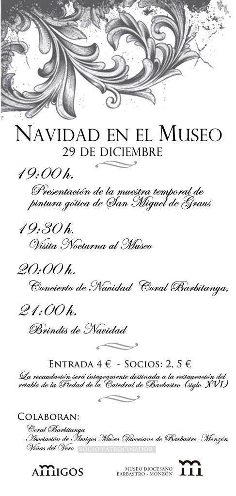 programa 29dic11 Museo Diocesano de Barbastro-Monzón