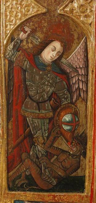 Guardapolvo del retablo de Buisán, detalle. S. XVI. Museo Diocesano de Barbastro-Monzón