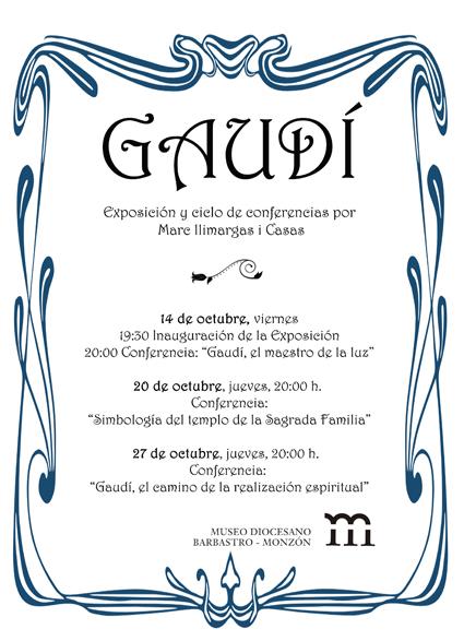cartel Gaudí en el Museo Diocesano