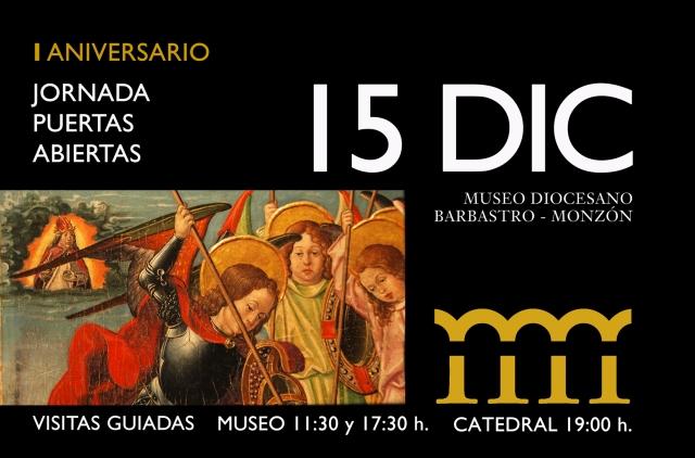 CARTEL JORNADA PUERTAS ABIERTAS MUSEO DIOCESANO BARBASTRO MONZÓN