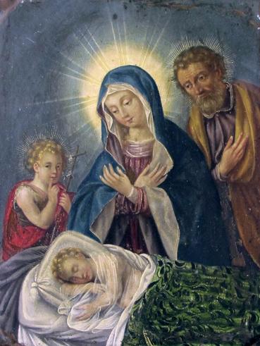 Sagrada Familia con San Juanito. Museo Diocesano de Barbastro-Monzón