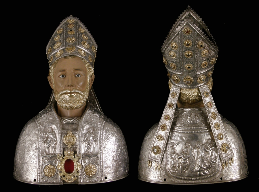 Busto de San Valero, anverso y reverso . Museo Diocesano de Barbastro-Monzón