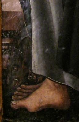 Jabalí. Detalle de la predela de Fanlo. Museo Diocesano de Barbastro-Monzón