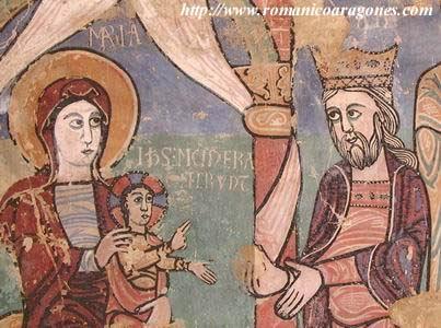 Pintura románica Museo Diocesano de Jaca. Foto: romanicoaragones.com
