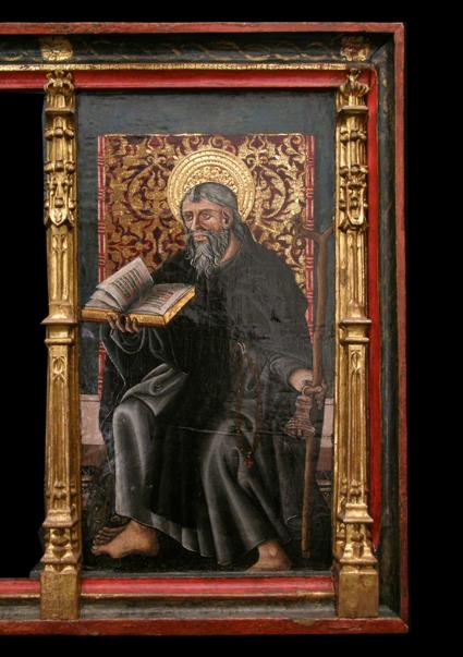 San Antón. Detalle de la predela de Fanlo. Museo Diocesano de Barbastro-Monzón