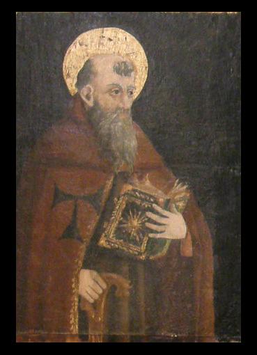 San Antón. Detalle de la predela del retablo de Yeba. Museo Diocesano de Barbastro-Monzón