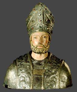 Busto de San Valero procedente de Roda de Isábena, en la actualidad en el Museo Diocesano y comarcal de Lérida