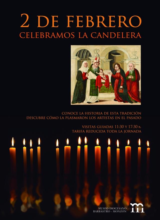 Cartel Candelera 2012 en el Museo Diocesano de Barbastro-Monzón