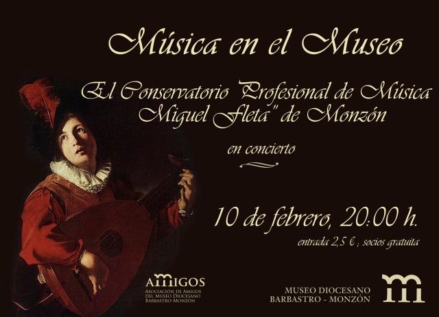 cartel Concierto Museo Diocesano de Barbastro-Monzón