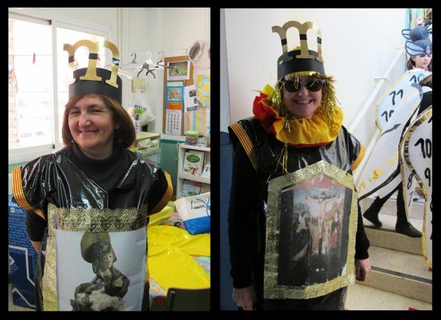 Profesoras disfrazados de Museo Diocesano. Carnaval CP La Merced, 2012