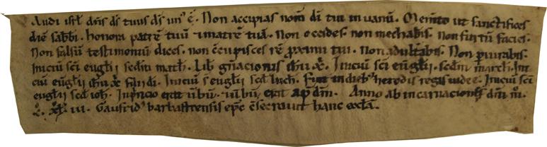 ACTA CONSAGRACIÓN IGLESIA DE VILLARUE 1143 Museo Diocesano de Barbastro-Monzón