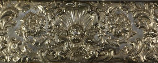 Detalle del  fontal de plata. Museo Diocesano de Barbastro-Monzón