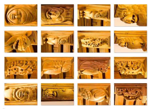 Detalles del artesonado sala 1 Foto JA Tolosa Museo Diocesano de Barbastro-Monzón