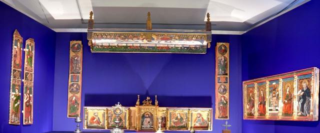Fragmentos de retablos. Museo Diocesano de Barbastro-Monzón