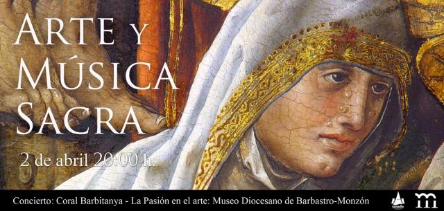INVITACIÓN ARTE Y MÚSICA SACRA. MUSEO DIOCESANO DE BARBASTRO-MONZÓN
