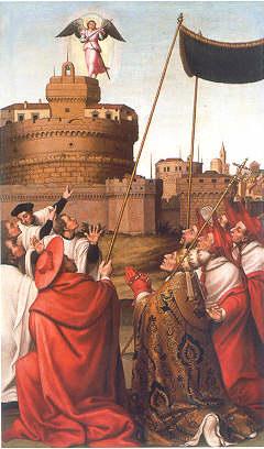 Aparición de san Miguel a san Gregorio