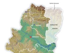 límites diócesis de Barbastro-Monzón