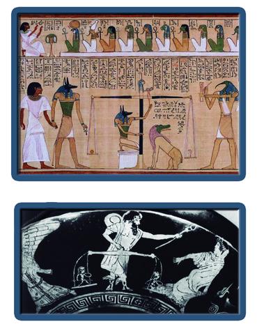 Psicostasis Osiris Hermes