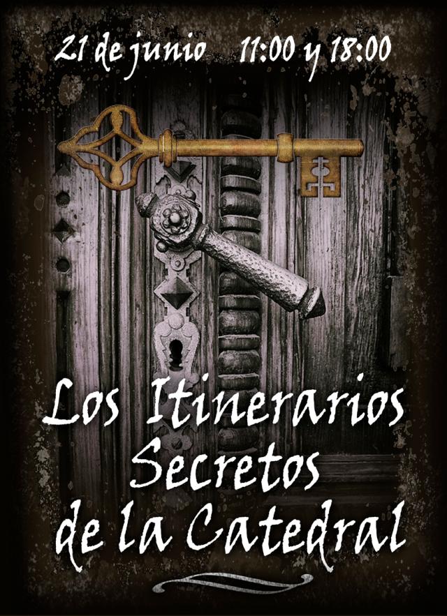 cartel Itinerarios Secretos de la Catedral Museo Diocesano de Barbastro-Monzón