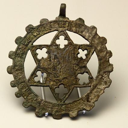 Pinjante del Dragón. Bronce. Siglo XIII-XIV, Barbastro. Museo Diocesano de Barbastro-Monzón