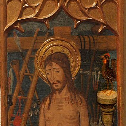 Tabla de un sagrario, Temple graso sobre tabla. 1496, Bartolomé García de Benabarre, Barbastro. Museo Diocesano de Barbastro-Monzón