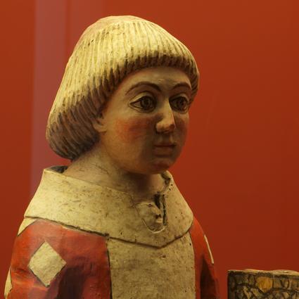 San Esteban, diácono. Talla de madera policromada. Siglo XIV, Suils. Museo Diocesano de Barbastro-Monzón