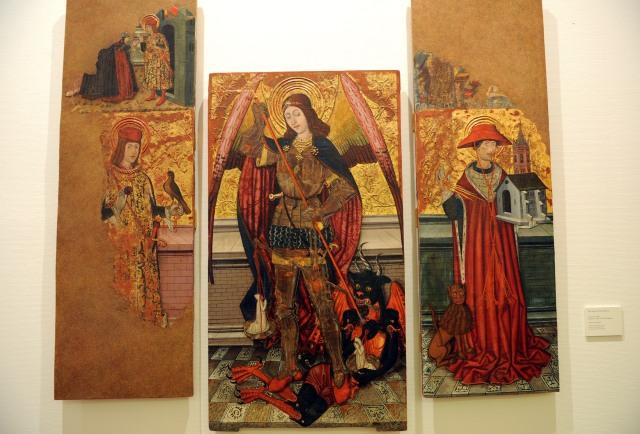 Retablo de san Miguel de Abi en el Museo Diocesano de Barbastro-Monzón