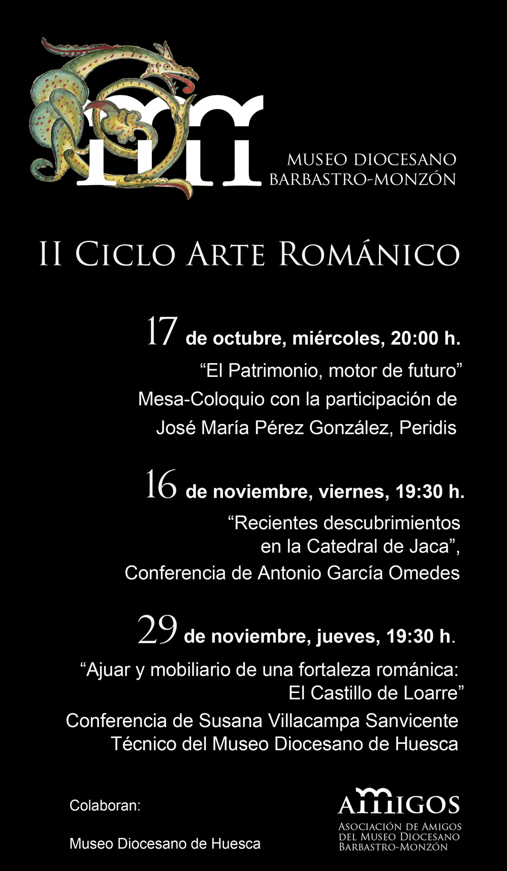 cartel II Ciclo románico en el Museo Diocesano de Barbastro-Monzón