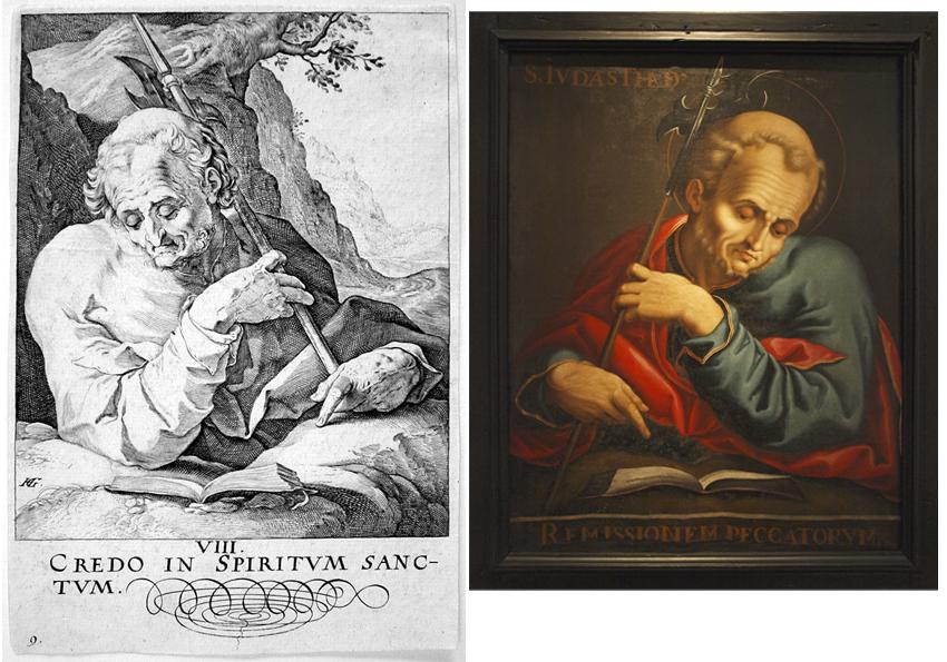 San Mateo Goltzius- San Judas Tadeo de San Victorián- Museo Diocesano de Barbastro-Monzón