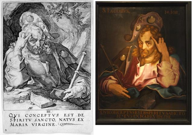 Santiago Mayor Goltzius-Santiago Mayor de San Victorián- Museo Diocesano de Barbastro-Monzón