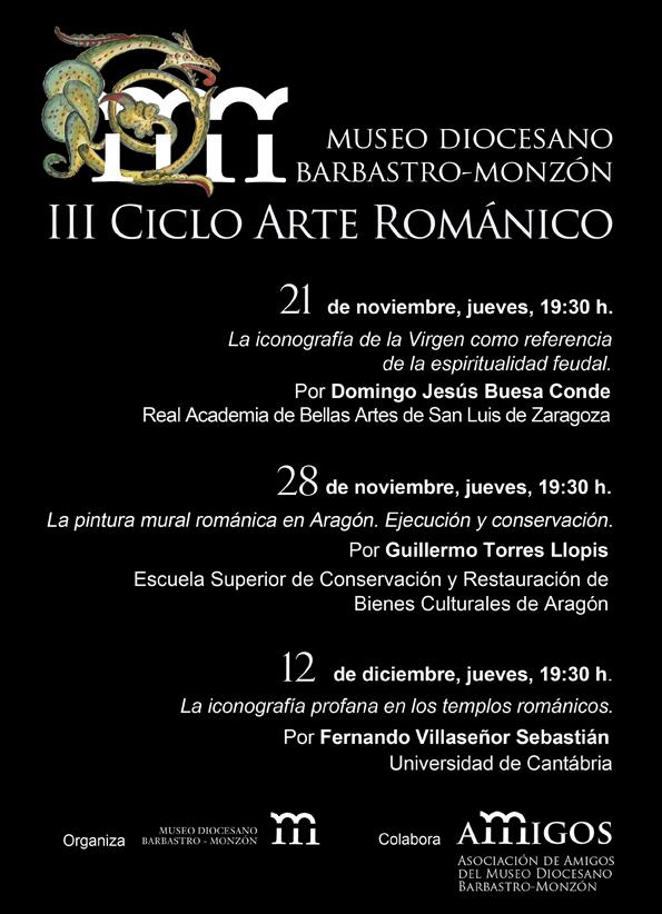 cartel III Ciclo románico en el Museo Diocesano de Barbastro-Monzón
