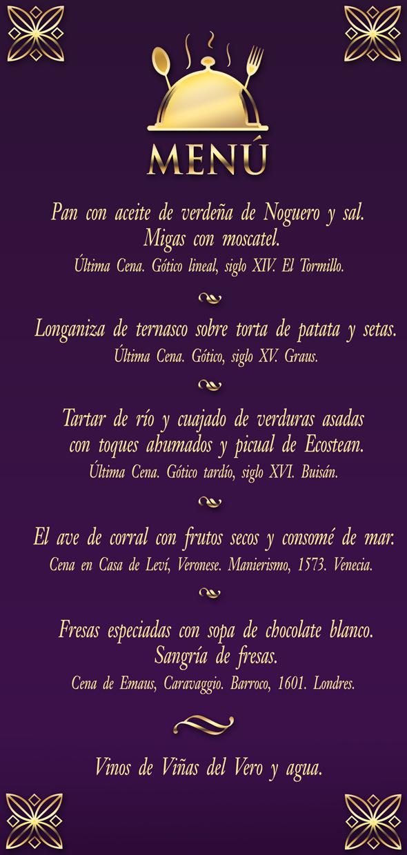 Menú Cena de Gala 23MAY14