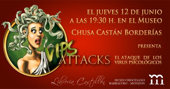 Chusa Castán presenta Vips Attacks el  12JUN14 en el Museo Diocesano de Barbastro-Monzón