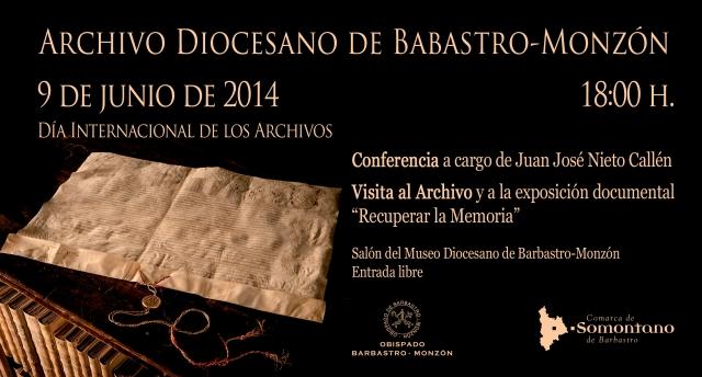 Día Internacional de los Archivos 06JUN14 Museo Diocesano de Barbastro-Monzón