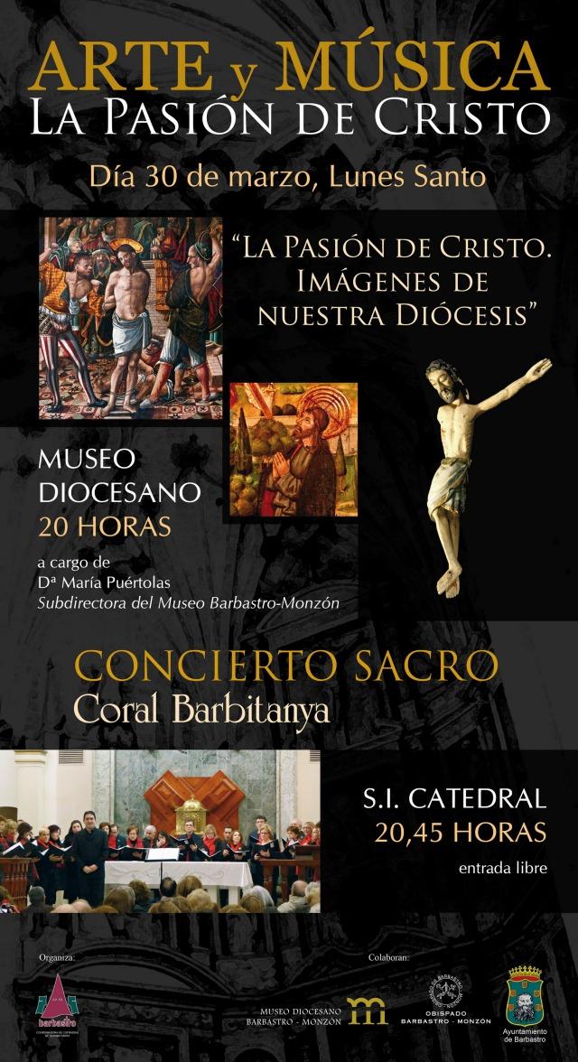 Cartel Arte y Música La Pasión de Cristo