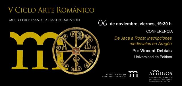 invitación V ciclo Arte Románico 06NOV15