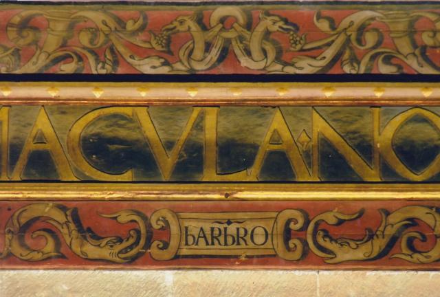 Detalle de las letras