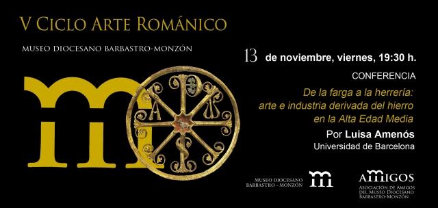 invitación V ciclo Arte Románico 13NOV15