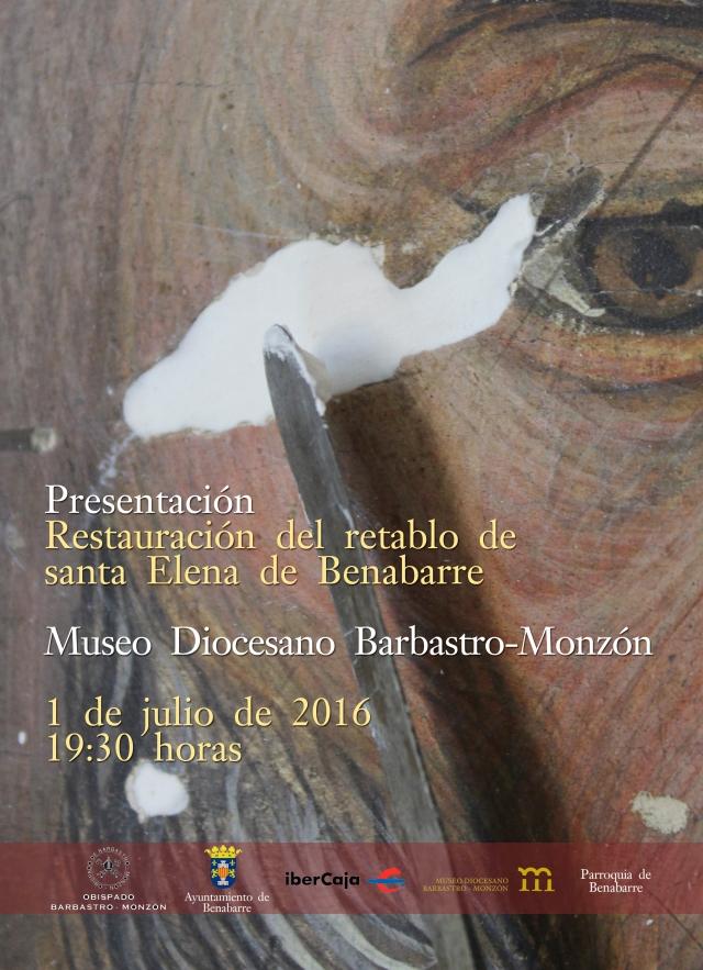 cartel restauración retablo benabarre