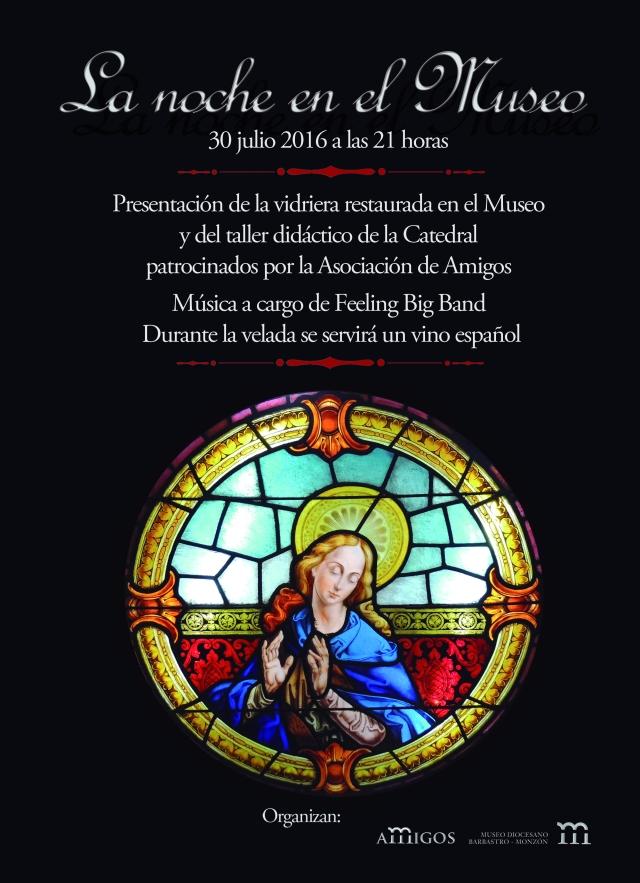 cartel noche en el museo 2016