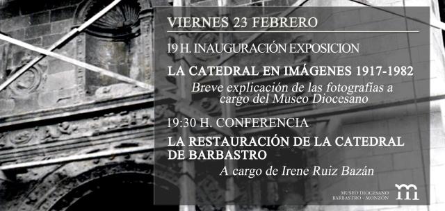 Invitación inauguración exposición y conferencia