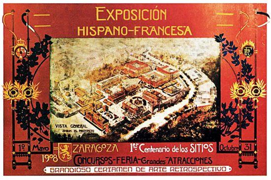 cartel expo hispano francesa 110 años