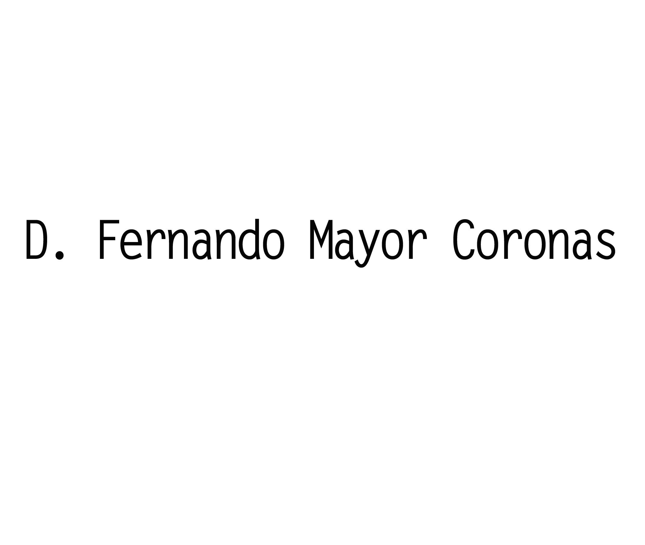 Fernando Mayor Coronas. Socio Protector